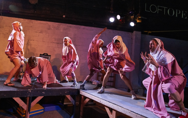 New York, New York - May 31, 2016 : Loft Opera performs Rossini's Le Comte Ory at The Muse in Brooklynseen here (l to r) -Credit : Robert Altman